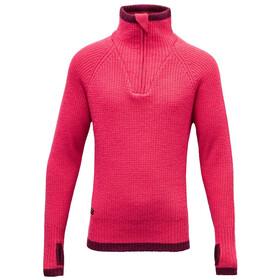 Devold Varde Zip Neck Sweater Ungdom watermelon